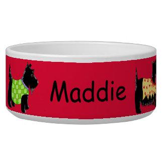 Rojo personalizado nombre negro de los perros de tazones para perrros