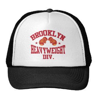 Rojo pesado de la división de Brooklyn Gorros