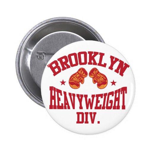 Rojo pesado de la división de Brooklyn Pin Redondo 5 Cm