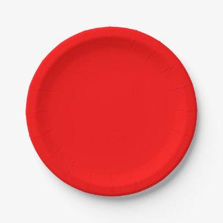 Rojo Platos De Papel
