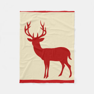 Rojo poner crema de la silueta el   del macho de manta de forro polar