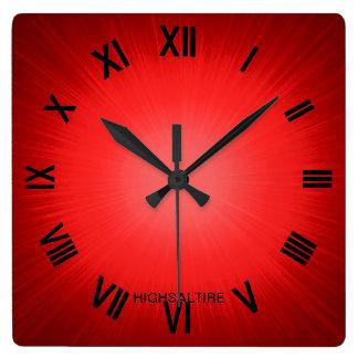 rojo por el highsaltire reloj cuadrado