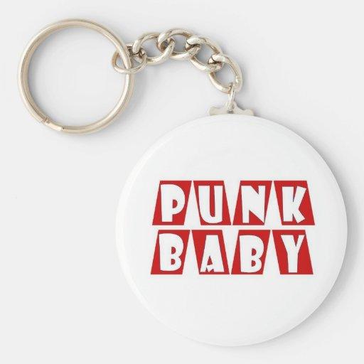 rojo punky del bebé llavero redondo tipo pin