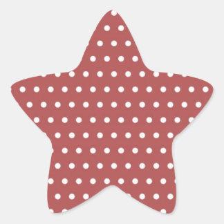 rojo puntúa polka hots tocan ligeramente muster pu pegatina en forma de estrella