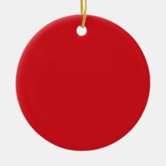 Rojo puro adorno redondo de cerámica