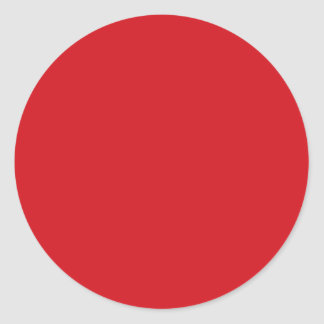 Rojo puro pegatina redonda