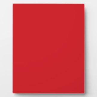 Rojo puro placa de plastico