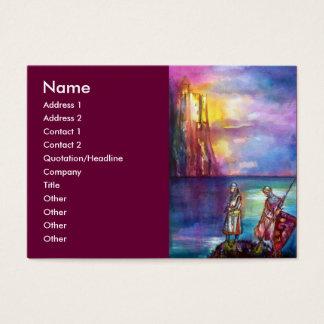 Rojo púrpura del amarillo del verde azul de tarjetas de visita grandes
