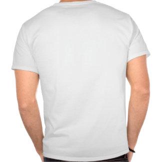 Rojo que sangra frente en blanco camiseta