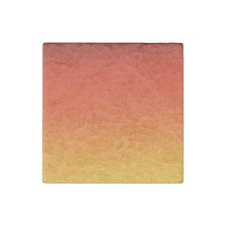 Rojo quemado anaranjado al modelo del crujido de imán de piedra