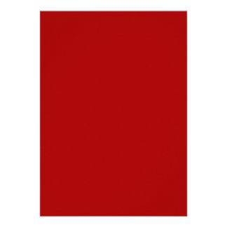 Rojo quemado invitación