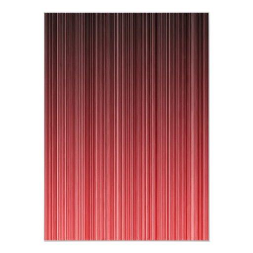 """Rojo rayado invitación 4.5"""" x 6.25"""""""