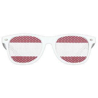 rojo rayado lentes de fiesta