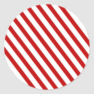 Rojo rayado etiquetas redondas