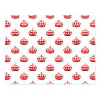 Rojo real de la corona postal