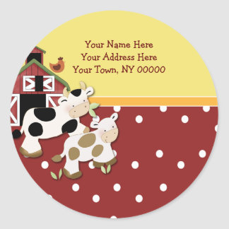Rojo redondo de la vaca del MOO del bebé de las et