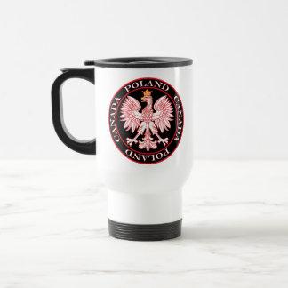 Rojo redondo Eagle de Polonia Canadá Taza De Viaje