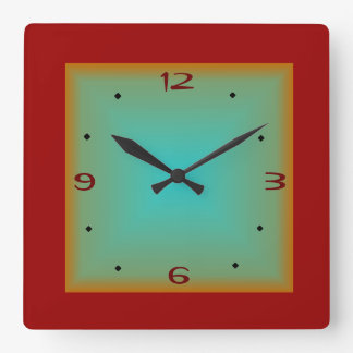 Rojo/reloj de pared minimalista de Green>