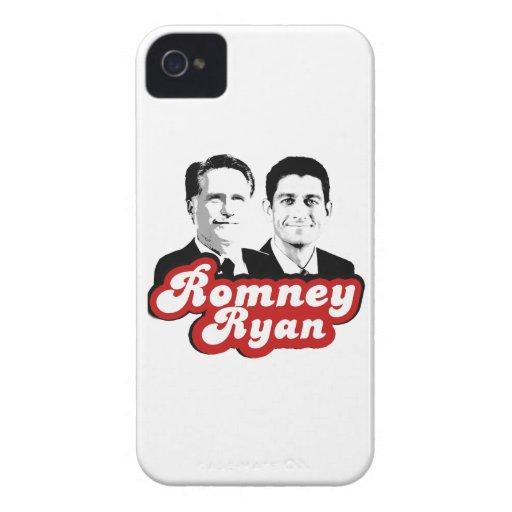 ROJO RETRO DE ROMNEY RYAN iPhone 4 Case-Mate PROTECTORES