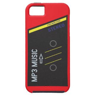 ROJO retro del jugador de Cassete iPhone 5 Case-Mate Cobertura