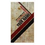 Rojo retro elegante del vintage una tarjeta de vis tarjetas de negocios