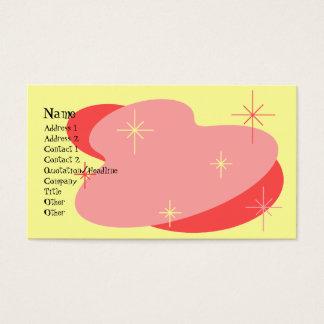 Rojo retro y amarillo atómicos tarjeta de negocios