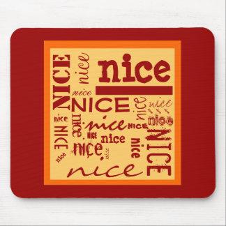 Rojo rojo AGRADABLE del diseño del texto, naranja, Alfombrilla De Ratón