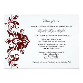 Rojo rojo de Borgoña de la invitación de la Invitación 12,7 X 17,8 Cm