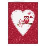 Rojo romántico de la tarjeta del el día de San Val