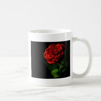 rojo-rosa-macro-aún-imagen-estudio-foto taza clásica