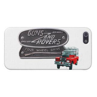 Rojo Rover de los armas y de los vagabundos iPhone 5 Coberturas