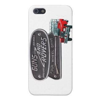 Rojo Rover de los armas y de los vagabundos iPhone 5 Fundas