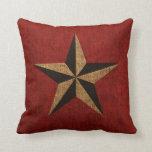 Rojo rústico de la estrella náutica