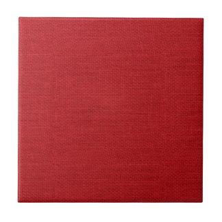Rojo rústico de la textura de la arpillera azulejo cuadrado pequeño