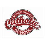 Rojo sagrado de la escuela católica del corazón postal