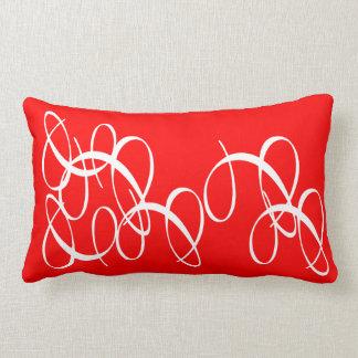 Rojo salpicado almohadas
