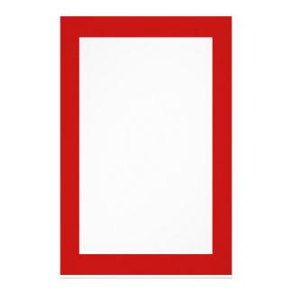 rojo simple papelería personalizada