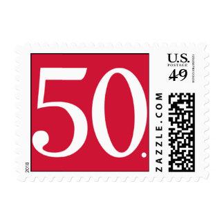 Rojo simplemente cincuenta timbre postal