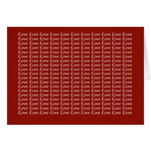 Rojo sin fin del amor tarjeta de felicitación