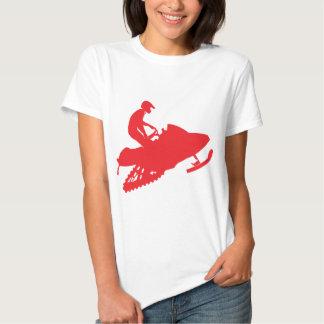 Rojo-Snowmobiler Playeras