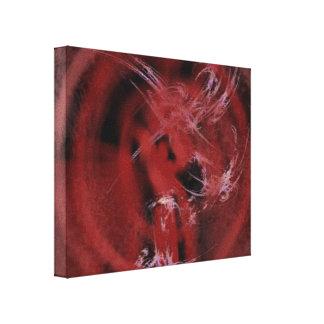 Rojo sobre negro lona estirada galerías