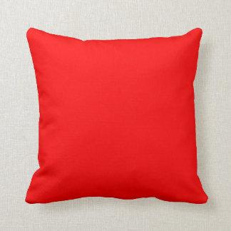 Rojo sólido almohada