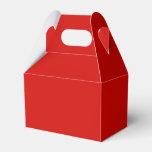 Rojo sólido cajas para detalles de boda