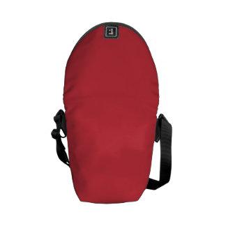 Rojo sólido de la amapola bolsa messenger