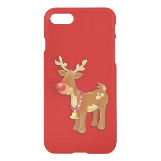 Rojo sospechado rojo del reno funda para iPhone 7