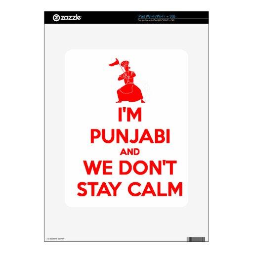(ROJO) soy Punjabi y no permanecemos tranquilos Calcomanías Para El iPad