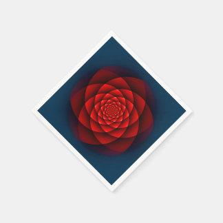 Rojo SUBIÓ caleidoscopio Servilletas De Papel