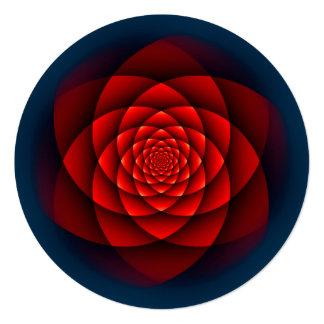 """Rojo SUBIÓ caleidoscopio + su texto Invitación 5.25"""" X 5.25"""""""