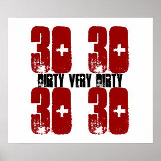 Rojo sucio 2 del Grunge del poster de la fiesta de