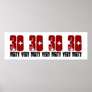 Rojo sucio del Grunge del poster de la fiesta de c
